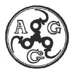 Logo de ma compagnie A. GRUNDER & CO, que l'on retrouve sur toutes les machines produites.